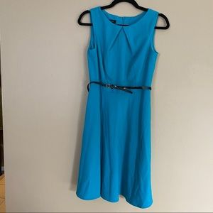 Teal A Line Dress